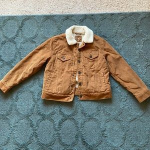 NWOT Boys/Girls Corderoy Jacket with Sherpa liner